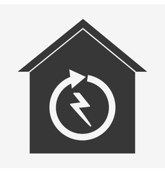 Smart home design technology icon graphic vector