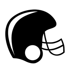 American football helmet icon image vector