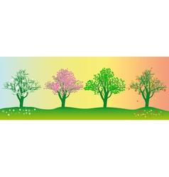 annual seasons vector image vector image