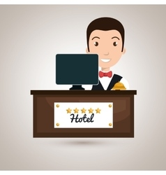 bellman hotel employee icon vector image
