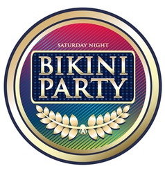 Bikini party exotic label vector