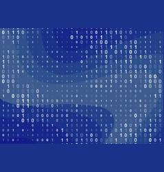 binary computer code background vector image