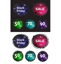 black friday set of modern banners in the style vector image