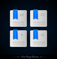 Blue business stickers on the black background for vector
