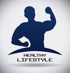 bodybuilding design vector image