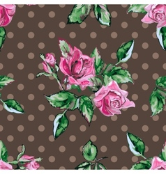 Classic wallpaper seamless vintage flower pattern vector