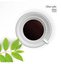 Coffee americano in a white cup vector
