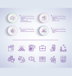 e-commerce infographic on vector image vector image
