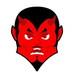 Evil devil angered by satan red demon furious vector