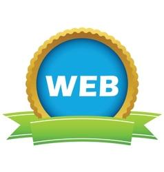 Gold web logo vector