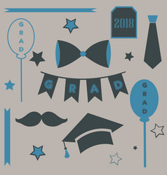 graduation package in retro style vector image