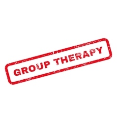 Group therapy text rubber stamp vector