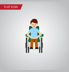 isolated accessible flat icon disabled person vector image vector image