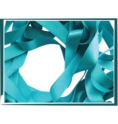 light blue ribbon isolated on white background vector image