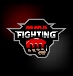 mma fighting logo vector image