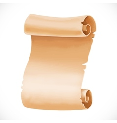 Old scroll of parchment for your design isolated vector
