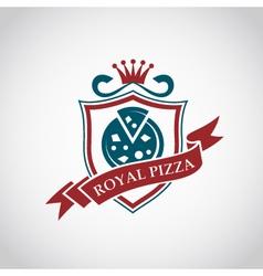 pizza label design vector image vector image
