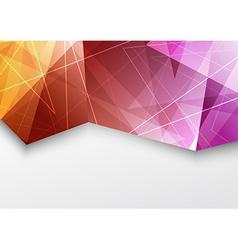Purple color triangle pattern modern brochure vector image vector image
