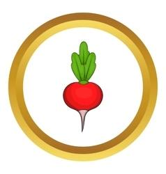 Radish icon vector image vector image
