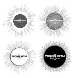 Set of vintage style star burst retro elements vector image