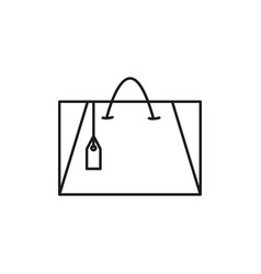 shoping bag icon vector image