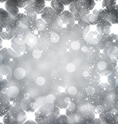 Silver christmas starry background vector