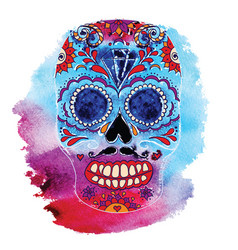 skull color t-shirt graphics vector image vector image