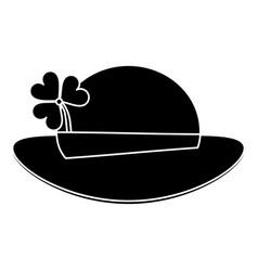 st patricks day leprechaun hat clover pictogram vector image vector image
