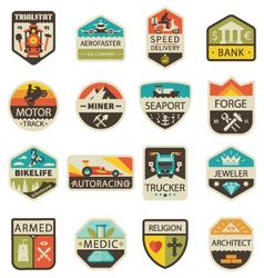 Vintage logos and badges vector image vector image