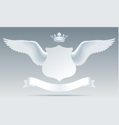 white detailed realistic wings with cut paper vector image vector image