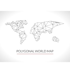 World map background in polygonal 3d style modern vector