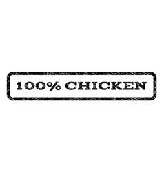 100 percent chicken watermark stamp vector
