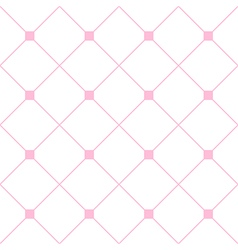 Light pink square diamond grid white background vector