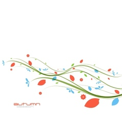 Autumn leaves nature template vector image
