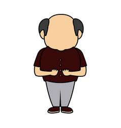 Grandfather man mature family people vector
