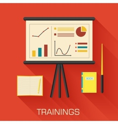Training concept design analytics business desk vector