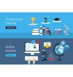 Professional training and online courses vector