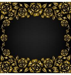 roses pattern frame vector image