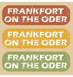 Vintage frankfort on oder stamps vector