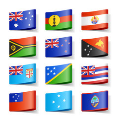 Oceania flags vector