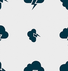 Heavy thunderstorm icon sign seamless pattern with vector