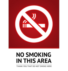Label no smoking sticker vector