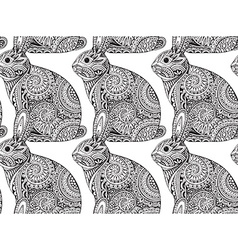 Seamless pattern with hand drawn graphic ornate vector