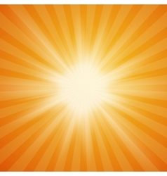 Summer sun burst on orange background vector