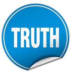 Truth round blue sticker isolated on white vector