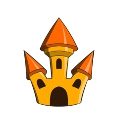 Castle icon in cartoon style vector