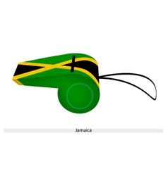 A Black Yellow and Green Whistle of Jamaica vector image