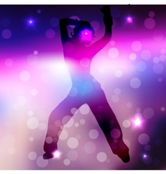 a dancing girl vector image