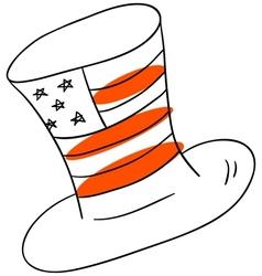 American hat vector image