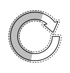 Arrow round cycle vector